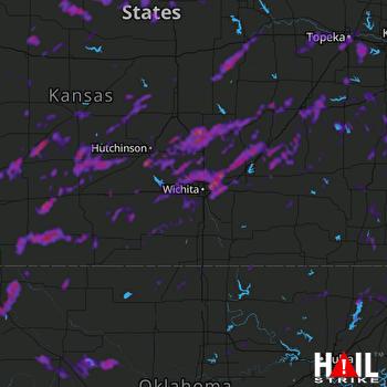 Hail Map Wichita, KS 06-26-2021
