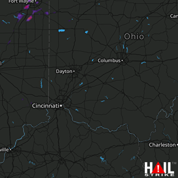 Hail Map Huntington, IN 08-25-2018