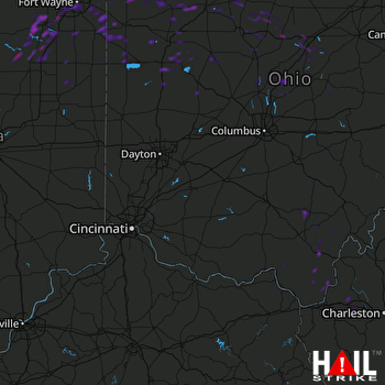Hail Map Huntington, IN 07-03-2019