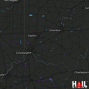 Hail Map Fairborn, OH 07-03-2019