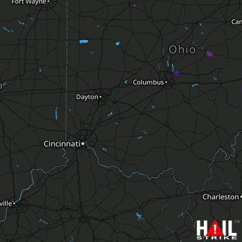 Hail Map Byesville, OH 08-07-2019