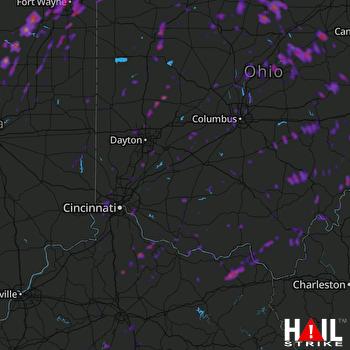 Hail Map Fort Wayne, IN 06-10-2020