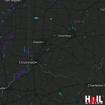 Hail Map Martinsville, IN 04-30-2017