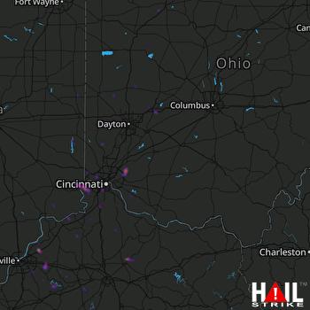 Hail Map Loveland, OH 05-06-2018