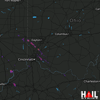 Hail Map Middletown, OH 05-20-2018