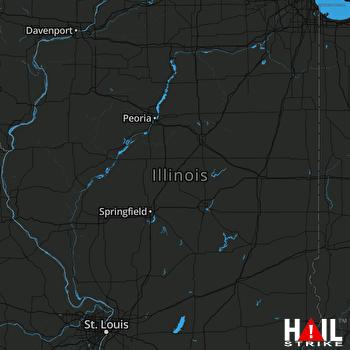 Hail Map Chatham, IL 03-12-2020