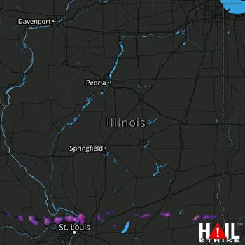 Hail Map Florissant, MO 03-27-2020
