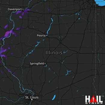 Hail Map Burlington, IA 09-21-2021