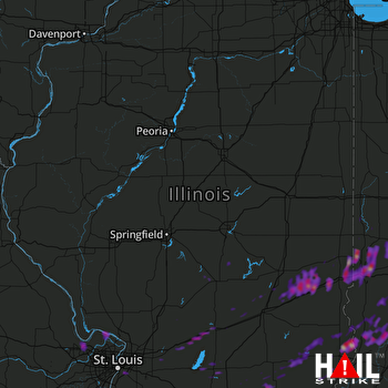 Hail Map Greencastle, IN 04-28-2017