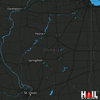 Hail Map Elgin, IL 07-12-2017