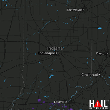 Hail Map Shepherdsville, KY 06-22-2019