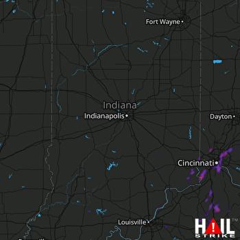 Hail Map Loveland, OH 07-30-2019