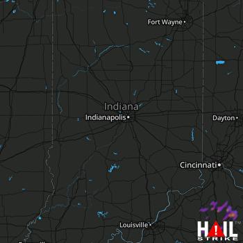 Hail Map Frankfort, KY 08-31-2019