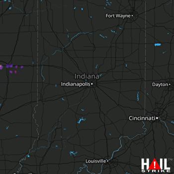 Hail Map Urbana, IL 09-29-2019