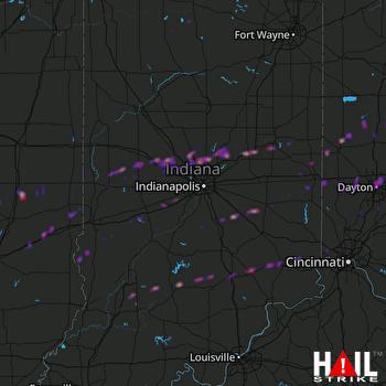 Hail Map Dayton, OH 03-28-2020