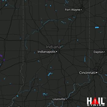 Hail Map INDIANAPOLIS 08-10-2020