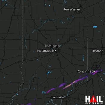 Hail Map Cincinnati, OH 10-16-2021