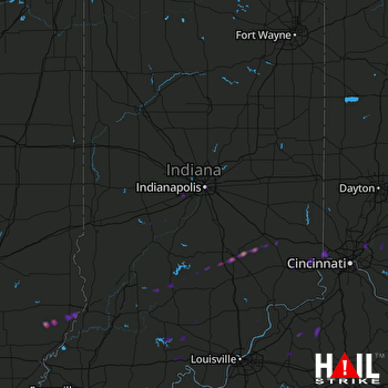 Hail Map Elizabethtown, IN 11-06-2017
