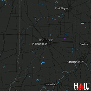 Hail Map New Castle, IN 06-08-2018