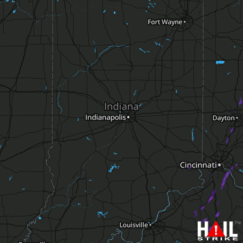 Hail Map Georgetown, KY 07-01-2018