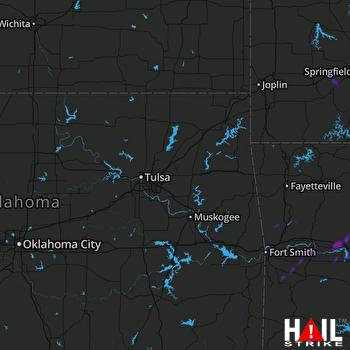 Hail Map Clarksville, AR 08-19-2018