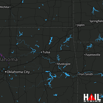 Hail Map TULSA 06-12-2019