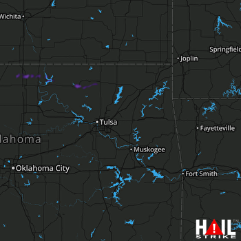 Hail Map Pawhuska, OK 06-15-2019