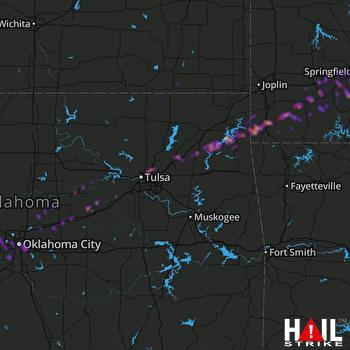Hail Map Oklahoma City, OK 03-27-2020