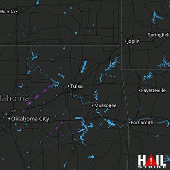 Hail Map Cushing, OK 03-28-2020