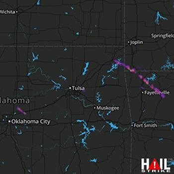 Hail Map Rogers, AR 04-20-2020