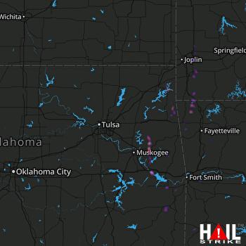 Hail Map Grove, OK 05-25-2020