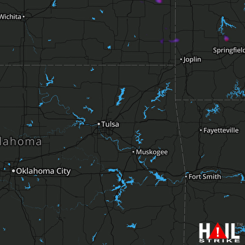 Hail Map Burlington, KS 07-19-2020