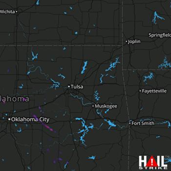 Hail Map Cashion, OK 08-05-2020
