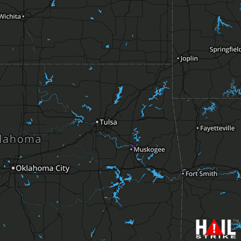 Hail Map Fort Gibson, OK 07-18-2021