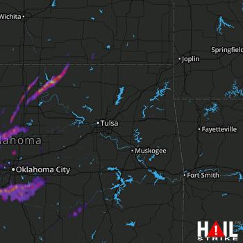Hail Map Norman, OK 10-11-2021