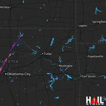 Hail Map Piedmont, OK 10-12-2021