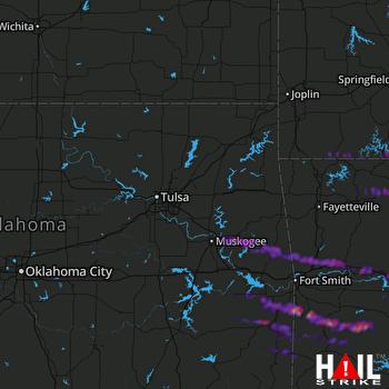 Hail Map Fort Gibson, OK 10-25-2021