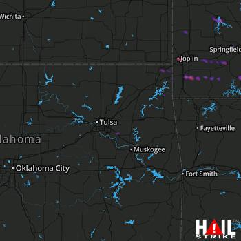 Hail Map Joplin, MO 03-21-2017