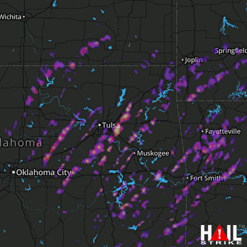 Hail Map Tulsa, OK 04-05-2017