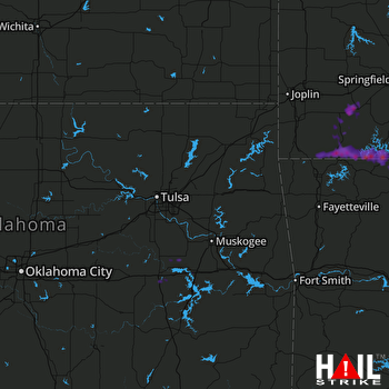 Hail Map Aurora, MO 05-27-2017