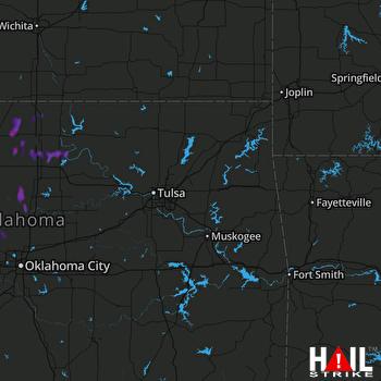 Hail Map Mulhall, OK 07-14-2017