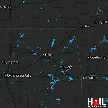 Hail Map Clayton, OK 08-06-2017