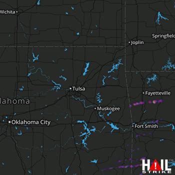 Hail Map Mena, AR 04-03-2018