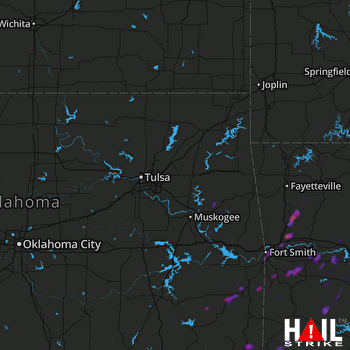 Hail Map Fort Smith, AR 06-08-2018