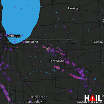 Hail Map Chicago, IL 05-16-2019