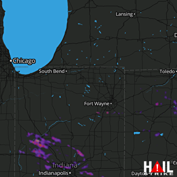 Hail Map Lafayette, IN 06-05-2019
