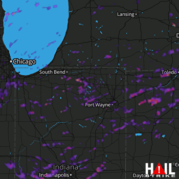 Hail Map Aurora, IL 08-18-2019