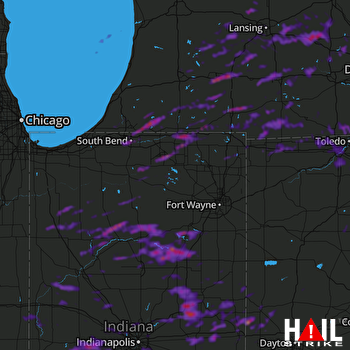 Hail Map South Bend, IN 09-15-2021