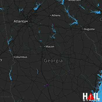Hail Map ROBINS AFB 02-07-2021