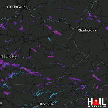 Hail Map Richmond, KY 05-28-2017